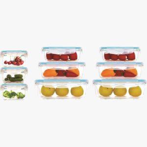 סט 9 כלי אחסון זכוכית Food Appeal GLASS CLOC פוד אפיל