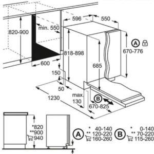 מדיח כלים אינטגרלי מלא AEG FSE83617P א.א.ג.