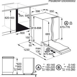 מדיח כלים רחב AEG FFB52600ZM
