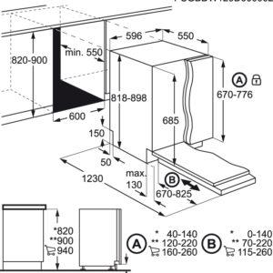 מדיח כלים רחב AEG FFB52600ZW א.א.ג.
