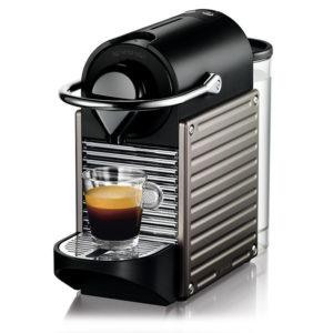 מכונת קפה NESPRESSO פיקסי Pixie דגם C-60 טיטניום 91200600